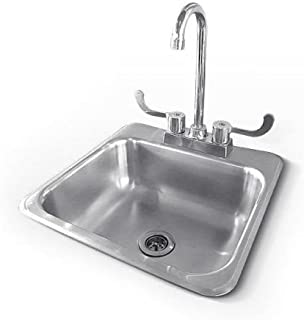 RCS Gas Grills RSNK1 Sink and Faucet in Stainless Steel