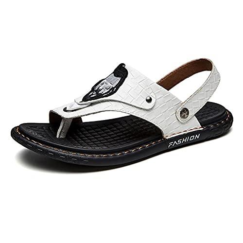 Sandalias de Corrección para Hombres Ocio Punta Abierta Playa Ortopédica Zapatillas Comfy antideslizantes Separador de Dedos para Hallux Valgus white,39