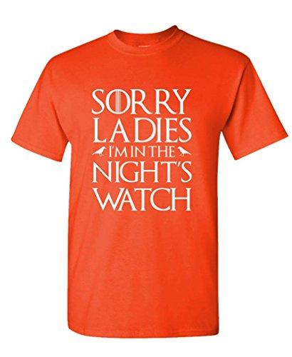 The Goozler Lo Siento señoras I 'm en la Nights Reloj–Mens Camiseta de algodón