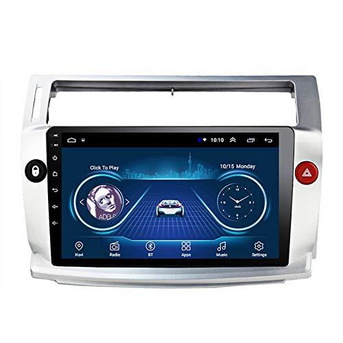 Autoradio Bluetooth Android 8.1 9' Stereo Auto Car Navigazione GPS per Citroen C4 C-Triomphe C-Quatre 2004-2009 con Canbus USB WiFi Supporta Dab Link Mirror Controllo del Volante