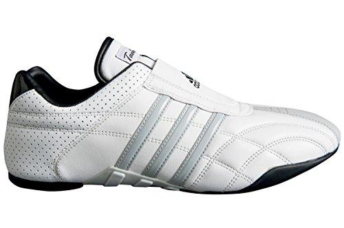 adidas Taekwondo Adilux Shoes (5, White W/Gray Stripe)