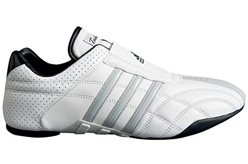 adidas Taekwondo Adiluxe Shoes (White W/Gray Stripe, Numeric_8)