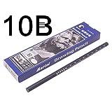 ZLJA 12 Unids 10B 12BLápices De Pintura Cartón Negro De Carbono Empaque Excelente Estudiante Papelería Dibujo Lápiz 10B