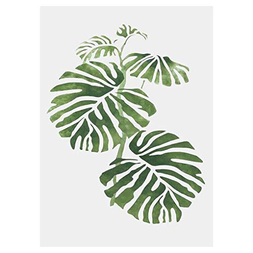 shunbang yuan Sin Marco Plantas Verdes Hojas Simples óleo Decorativa Pintura Decorativa Hojas sin Marco Dibujo Imagen Cartel del Sitio de decoración de la Pared