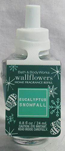 Refil Líquido Purificador de Ar, Wallflowers Bath Body Works Fragrance Refill Bulb Eucalyptus Snowfall, 24 ml.