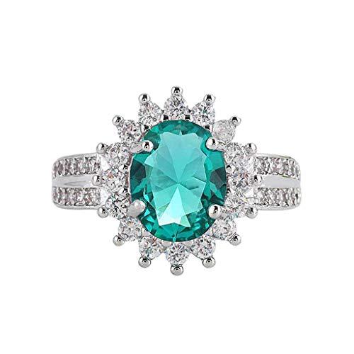Goddesslili Emerald Sun Rings for Women Girlfriend Diamond Vintage Zircon Pierced Wedding Engagement Anniversary Luxurious Elegant Jewelry Gift Under 5 Dollars (8)