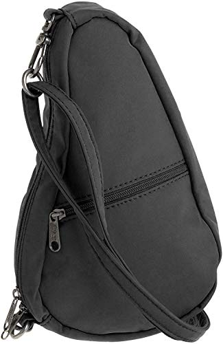AmeriBag womens Microfiber Baglett Shoulder Bag 7100,Black,one size