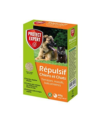 PROTECT EXPERT REPUL400 Répulsif Chiens Et Chats-Granulés 400g, Efficace