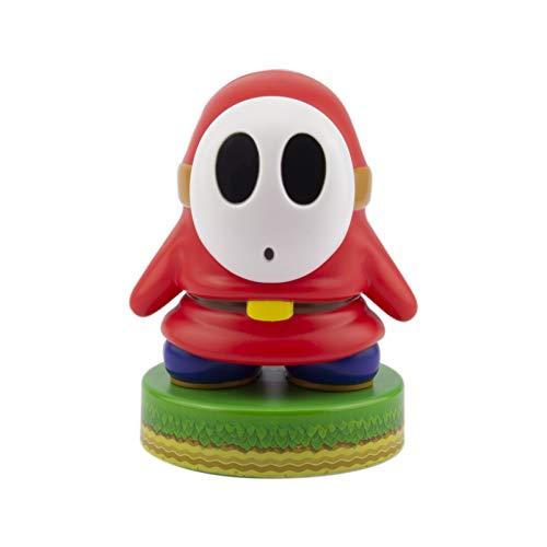 Paladone Super Mario Shy Guy 3D Icon BDP | Offiziell lizenziertes Nintendo Sammlerstück | Einzigartige Geschenkidee | Helles Nachtlicht oder Schreibtischlampe | Batteriebetrieben durch 2 x AAA, Weiß
