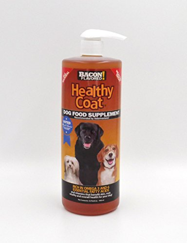 HealthyCoat Dog Food Supplement for Excessive Shedding  Itching  Hot Spots  Allergies  32 oz.  Clear
