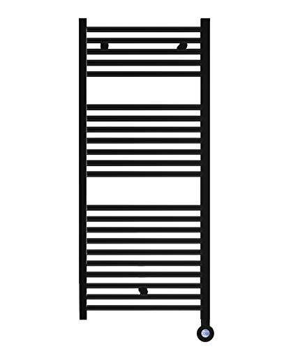 facula Radiador Toallero Eléctrico Fluido Negro Programable 700w
