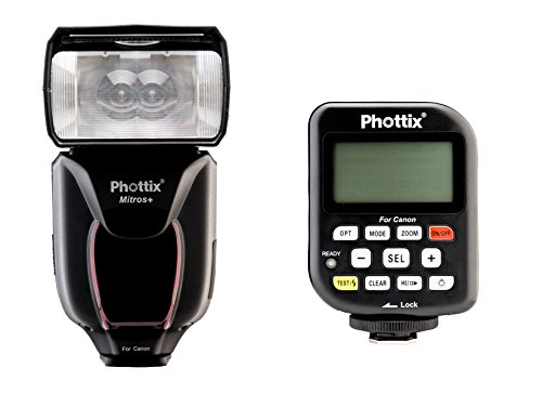 Phottix PH80375 Mitros+ Odin TCU Blitzauslöser mit Transmitter Kombination für Canon V1.5