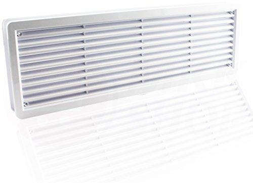 Lüftungsgitter Türlüftungsgitter Türgitter weiß braun Türlüfter Abluft Zuluft Gitter weiß 400 x 130 mm