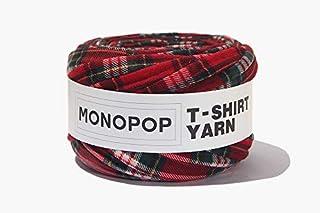 MONOPOP T-SHIRT YARN PRINT モノポップ Tシャツヤーン 柄 ◆KOKOKOREA (TARTAN RED) [並行輸入品]