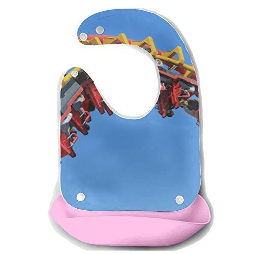 N\A Baby Lätzchen Junge Ein aufregendes Spiel Achterbahn Abnehmbare Silikon Fütterung Schürze Maus Handtuch Baby Fütterung Dribble Drool Lätzchen Säugling Säuglings...
