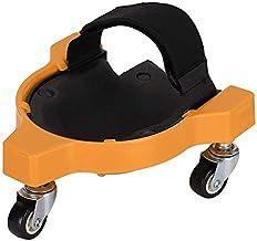 Fltaheroo Rolling Knie Pad met Wiel Ingebouwde Schuim Gewatteerde Leggen Platform Universeel Wiel Knielend Pad (Geel)
