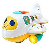 Play Pride Electrónico Musical Avión Juguetes Eléctrico Educativo Juguete con Luces Sonidos y Música, Temprano Aprendizaje Juguetes para Niños Pequeños Niños y Chicas, Años 1 y Mayor