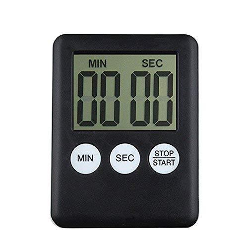 iitrust Digitaler Küchentimer Magnetischer Kurzzeitmesser Küche Elektronischer Timer und Stoppuhr mit Großem LCD Display 24H Mini Countdown Timer mit schallendem Alarm
