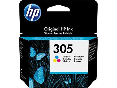 HP 305 3YM60AE, Cartucho de Tinta Original Tricolor, Compatible con impresoras de inyección de Tinta HP DeskJet 2700, 2730, 4100, 4134, Envy Serie 6020, 6030, 6420, 6430