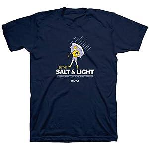 Kerusso Men's Salt and Light Matthew 5:13-16 T-Shirt – Navy –