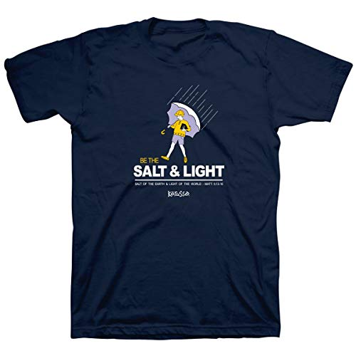 Kerusso Men's Salt and Light Matthew 5:13-16 T-Shirt - Navy -XL