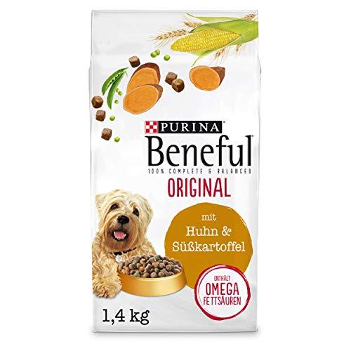 PURINA BENEFUL Original Hundefutter trocken für Hunde aller Rassen, mit Huhn, 6er Pack (6 x 1,4kg)
