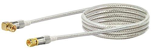 SCHWAIGER -9567- Satellitenkabel 1.5 m 110dB / 90° Winkel-Stecker/HDTV Antennen-Kabel/SAT-Kabel 75 Ohm/Koaxial-Kabel/TV-Kabel / 4-Fach geschirmt/robuste Vollmetallstecker/DVB-S, DVB-S2