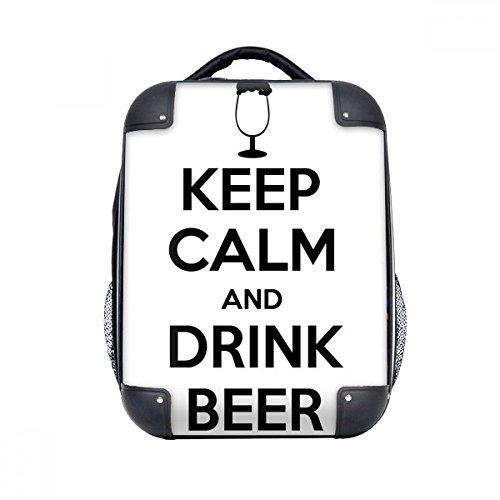 DIYthinker Zitat Behalten Sie Ruhe und Getränk-Bier-harten Fall Schulter Kind-Rucksack-Geschenk 15