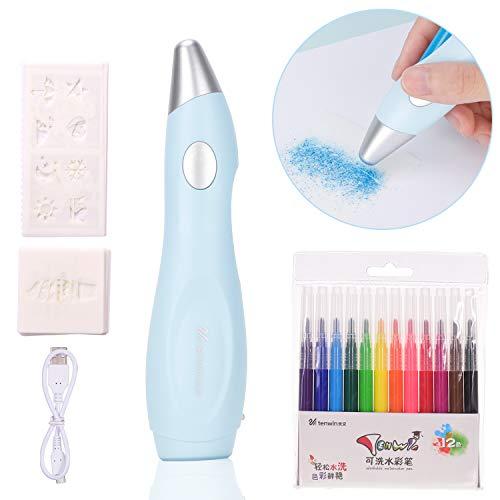 Aibecy Tenwin Elektrische Wasser Farbspray Pen Sprayer Airbrush Marker Set 12 stücke Waschbar Aquarell Kugelschreiber Kunst und Handwerk Liefert Weihnachtsgeschenk für Kinder Studenten Erwachsene