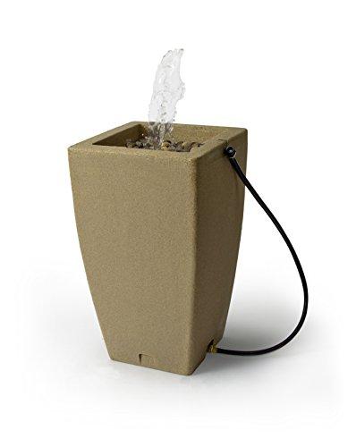 Algreen 84231 Products Madison Rain Barrel Fountain 49-Gallon, Sandstone