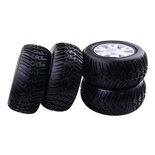 LIZONGFQ Neumático de Rueda de camión eléctrico RC a Escala 1/8 4X con Cubos de llanta de 17 mm para Redcat