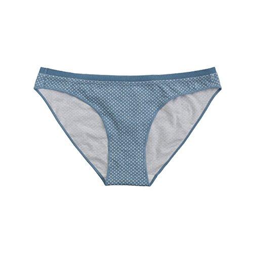 Rey&Qing Ropa Interior De Algodón Transpirable Confortable Briefs Cintura Flor,S,Fondo Azul Bud