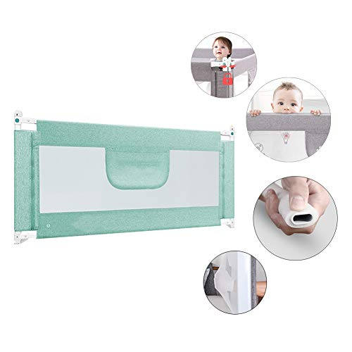XJJUN Barrière De Lit Height Adjustable Vertical Lift Easy to Install Protective Guardrail Door Barrière De Sécurité for Lit De Bébé Universal Bed, Baby, 3 Colors