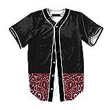Raylans Camisa de béisbol casual para hombre con estampado floral 3D, de...