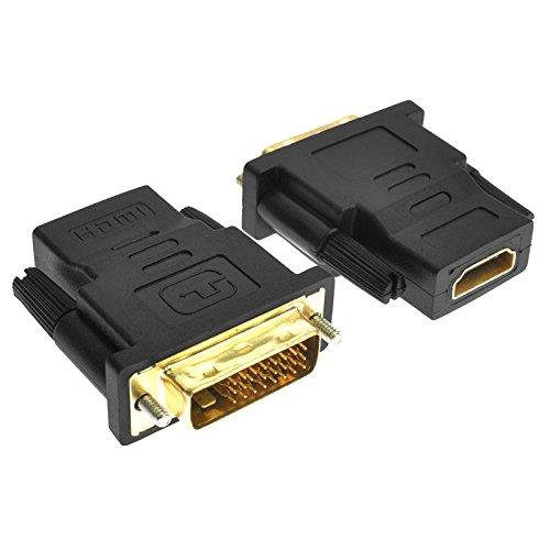 ETbotu Geschenken voor mannen vrouwen - HDMI Vrouwelijke naar DVI Mannelijke (24+1 pin) Adapter