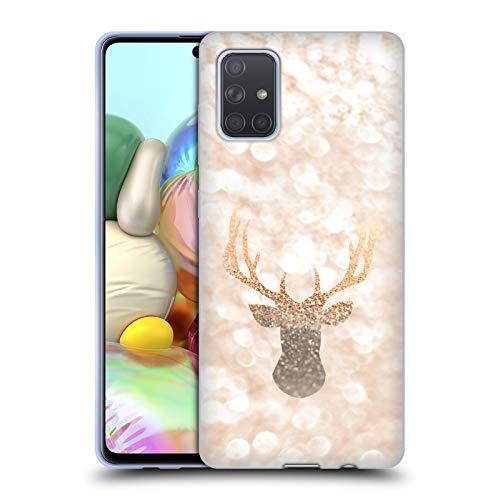 Head Hülle Designs Offizielle Monika Strigel Hirsch Champagne Gold Soft Gel Huelle kompatibel mit Samsung Galaxy A71 (2019)