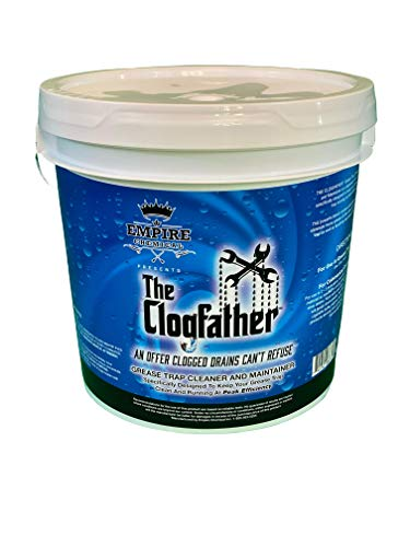 The Clogfather Grease Trap Cleaner and Maintainer, Natural, Fast, Non-Acidic Drain Clog Remover for Residential Treatments, Main Drain Lines, and Heavier, Commercial Use, 10 Lbs.