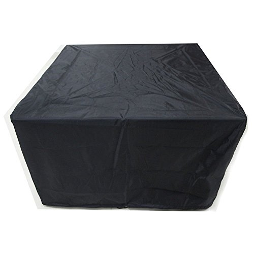 Cosanter 1 Pcs Housse de Protection Salon de Jardin carré Couverture Ignifuge imperméable Anti-poussière antisolaire Noir (270 x 180 x 89 cm)
