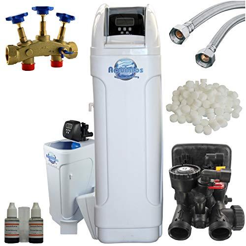 Wasserenthärtungsanlage MKC60 TOP für 1-6 Personen von AQUINTOS inkl. Montageblock & 100 Kg Regeneriersalz