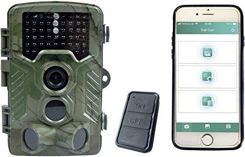 Berger & Schröter WiFi 4K Full HD 20MP Wildkamera 8 Megapixel Black LEDs, Fernbedienung, Tonaufzeic