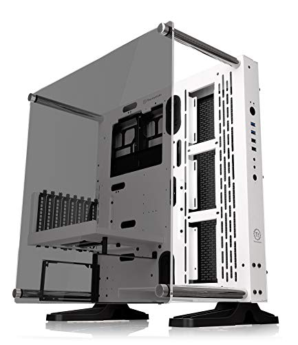 Thermaltake Core P3 TG - Caja de PC (Mid Tower, Wallmount, LCS Ready) Color Blanco (Snow)