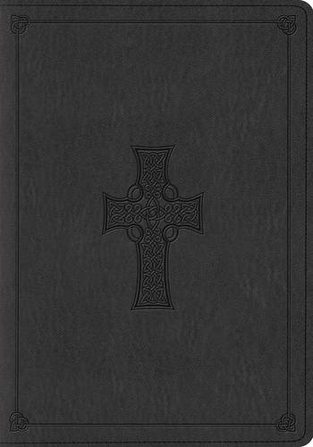 ESV Large Print Bible (TruTone, Charcoal, Celtic Cross Design)