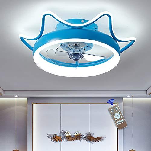MYJHUIY Dormitorio Led Ventilador de Techo Pequeño con Luz y Mando Silencioso Reversible 6 Velocidades Moderno Ventilador con Luz de Techo con Temporizador Regulable