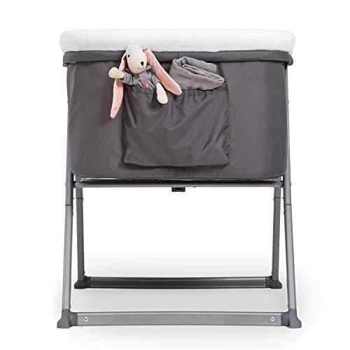Hauck Dreamer Babywiege/Stubenwagen/Beistell-/Reisebett, inkl. Matratze und Spielzeugtasche, mit Schaukelfunktion, faltbar, klappbar und tragbar, Grau - 7