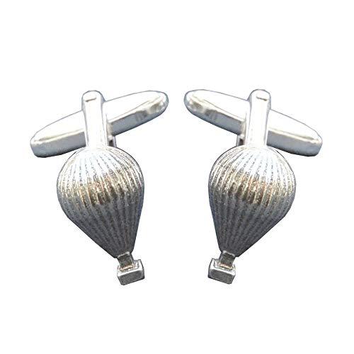 """Boutons de Manchette """"Ballon d'Air Chaud"""" en Etain Fin - Fabrication Française"""