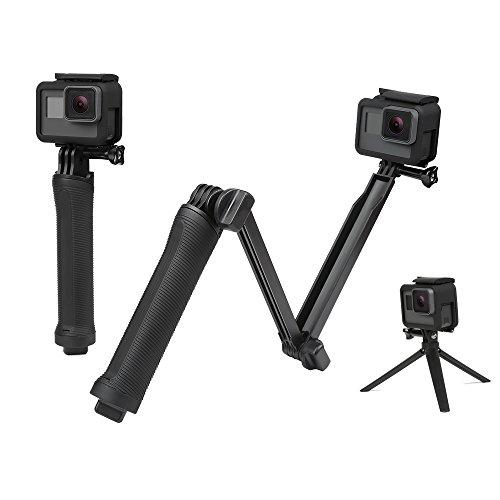YANTRALAY SCHOOL OF GADGETS 3-Way Monopod Grip Arm Tripod Foldable Selfie Stick, Stabilizer Mount Holder for GoPro Hero 7/6/5, SJCAM SJ6, SJ7, SJ5000, Yi and All Action Cameras (Black)