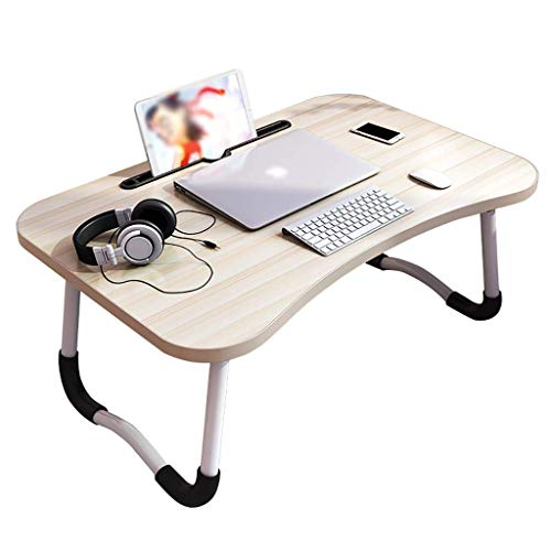 AOIWE Lap Desk, Laptop Table, Foldable Lazy Table On The Bed, Home Study Desk In Student Dormitory In Bedroom (Color : B)