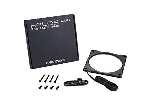 Preisvergleich Produktbild Phanteks PH-FF120RGBA_BK01 Halos-Lux-RGB-Lüfterrahmen,  hochdichtige LEDs,  RGB,  120 mm Lüfterbefestigung
