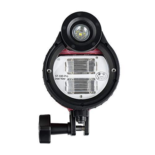 Seafrogs ST-100-Pro Blitzlicht Tauchlampe Wasserdicht max. 100m / 328ft 5600K mit Optikkabel für Sony Canon Fujifilm Nikon Kameragehäuse Tauchtasche für Unterwasserfotografie