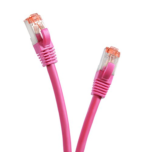 TPFNet 3m CAT.6 Gigabit Ethernet LAN Kabel SFTP (Rj-45) 1 Gigabit - Magenta